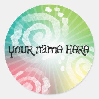 Tye-Dye Design Stickers