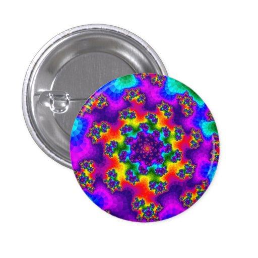 Tye-Dye Floral Sprinkles Small Round Button