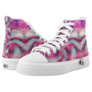 Tye-Dye High Tops Printed Shoes