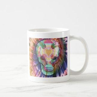 Tye Dye Skull Basic White Mug