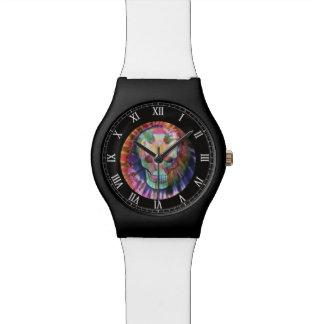 Tye Dye Skull Wrist Watches
