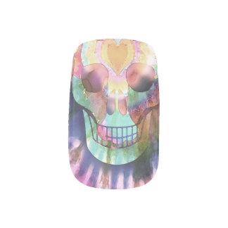 Tye Dye Skull Nail Sticker