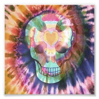 Tye Dye Skull Photo Art