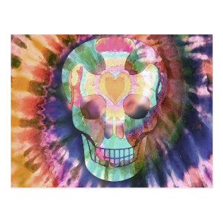 Tye Dye Skull Postcard