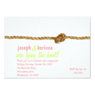 "Tying the Knot Engagement Party Invitation 5"" X 7"" Invitation Card"