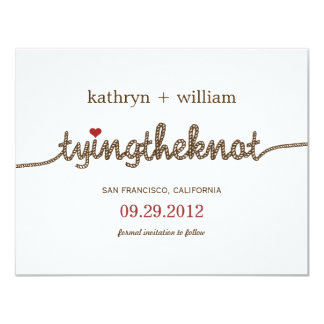 Tying the Knot Modern Save The Date Announcement