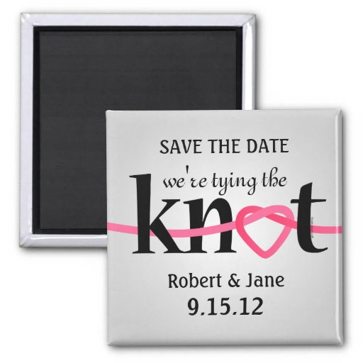Tying The Knot STD Magnet