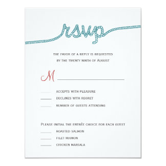 Tying The Knot Wedding RSVP cards 11 Cm X 14 Cm Invitation Card