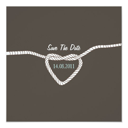 Tying the Knot Wedding Save the Date Card
