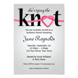 Tying The Knot Wedding Shower Invitation