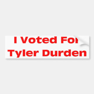Tyler Bumper Sticker