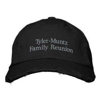 Tyler-Muntz Family Reunion Embroidered Hats