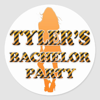 Tyler's Bachelor Party Round Sticker