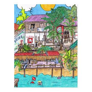 Tyll's Dive Shop postcard