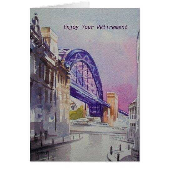 Tyne Bridge from Dean Street Retirement Card