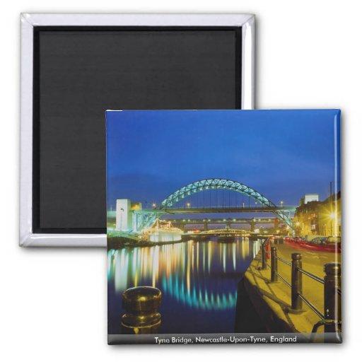 Tyne Bridge, Newcastle-Upon-Tyne, England Fridge Magnets