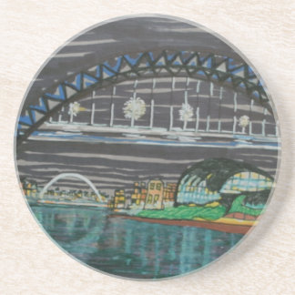 Tyne Quayside at night Coaster