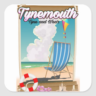 Tynemouth Tyne and Wear, Travel poster Square Sticker