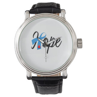 Type 1 Diabetes Awareness Hope Blue Ribbon Watch