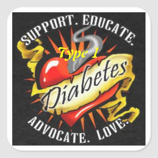 Type 1 Diabetes Awareness Sticker