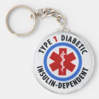 Type 1 Diabetic Key Ring