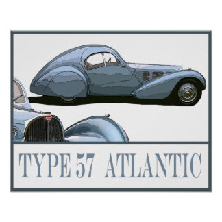 Type 57 Atlantic Poster