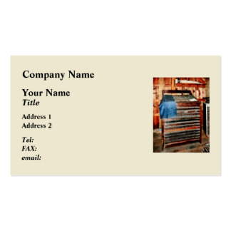 Type Case With Denim Apron Pack Of Standard Business Cards