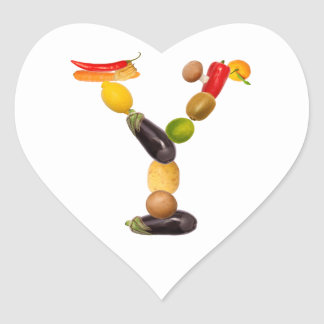 """type character """"Y"""" OF fruits and vegetables Stickers"""