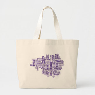 Type map of Greater Manchester Large Tote Bag