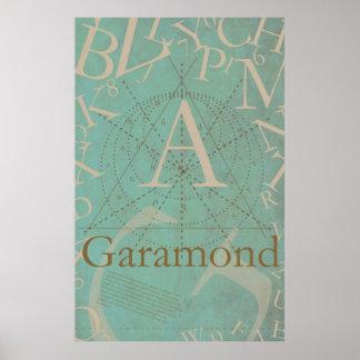 Type Poster: Garamond Poster