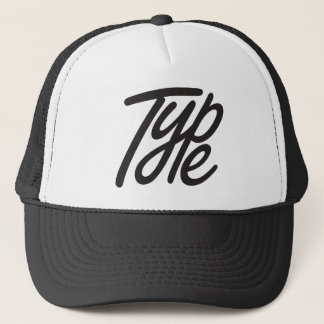 type trucker hat