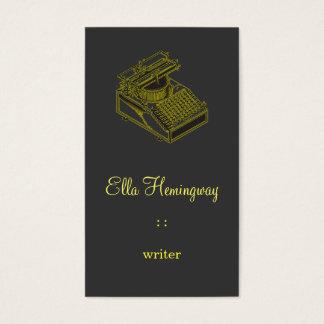 Type Writing Machine Business Card