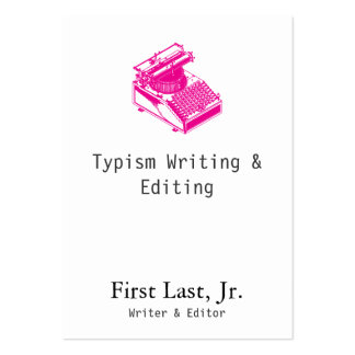 Type Writing Machine Magenta Business Cards