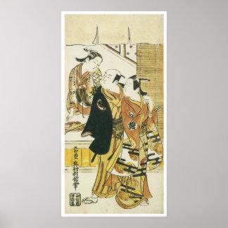 Types from Kyoto, Edo and Osake, Toshinobu, 1716 Poster