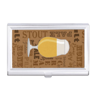Types of Beer Series Print 4 Business Card Holder