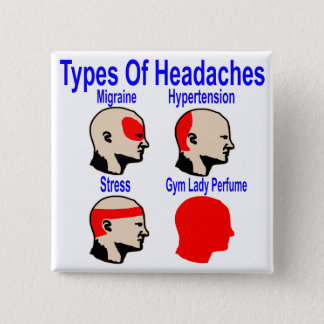 Types Of Headaches: Gym Lady Perfume 15 Cm Square Badge