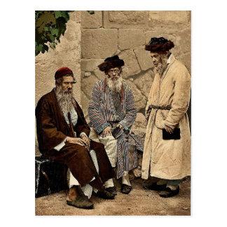Types of Jews in Jerusalem, Holy Land rare Photoch Postcard
