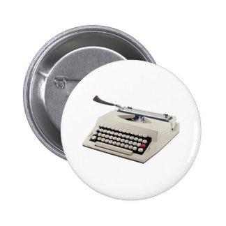 Typewriter 6 Cm Round Badge