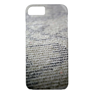 Typewriter and Words iPhone 7 Case