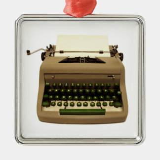 Typewriter Christmas Tree Ornament for Writers