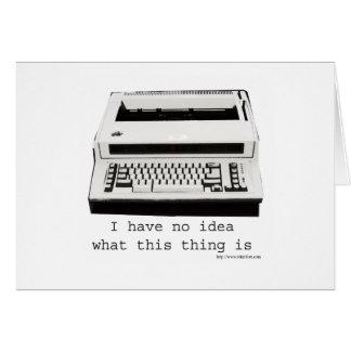 Typewriter Huh? Card