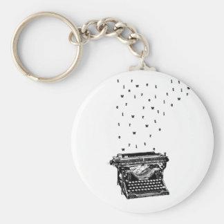 Typewriter Keychain