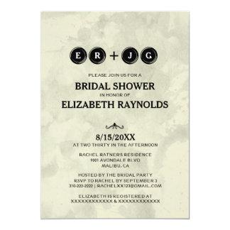 Typewriter Keys Bridal Shower Invitations