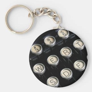 Typewriter keys key ring