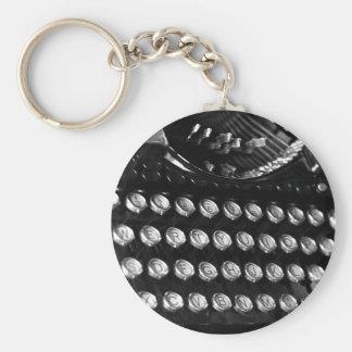 Typewriter keys keychain