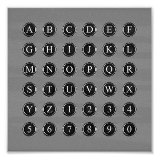 Typewriter Keys Poster