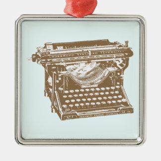 Typewriter Metal Ornament