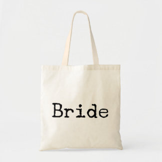 typewriter old fashioned bride bridal tote bag