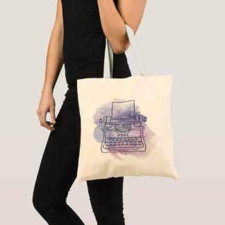 Typewriter on Watercolor Wash Background Tote Bag