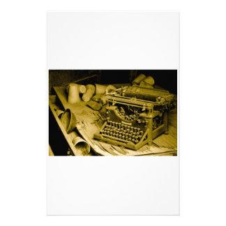 typewriter stationary stationery